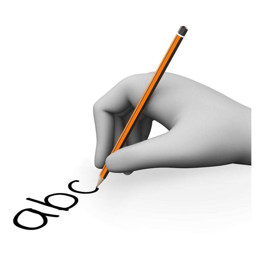 Imagen del verbo escribir
