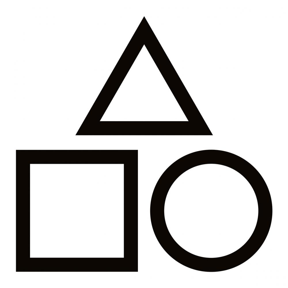 Imagen en la que se ven tres polígonos: un cuadrado, un triángulo y un círculo