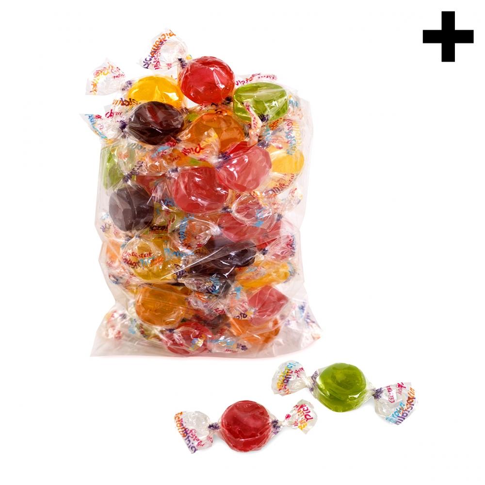 Imagen en la que se ve el plural del concepto bolsa de caramelos