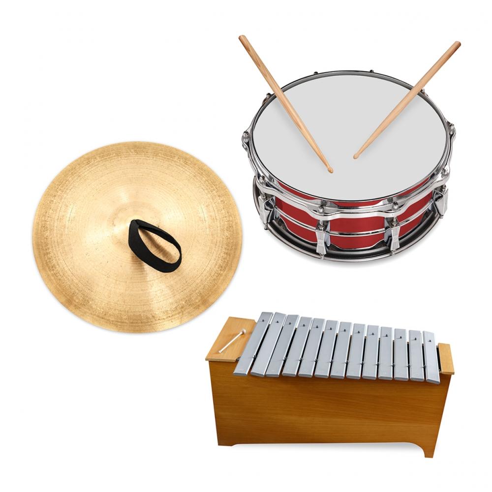 Imagen en la que aparece el concepto genérico de instrumentos de percusión