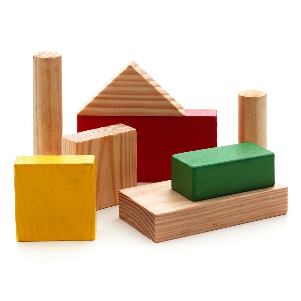 Imagen en la que se ven bloques de construcción de madera