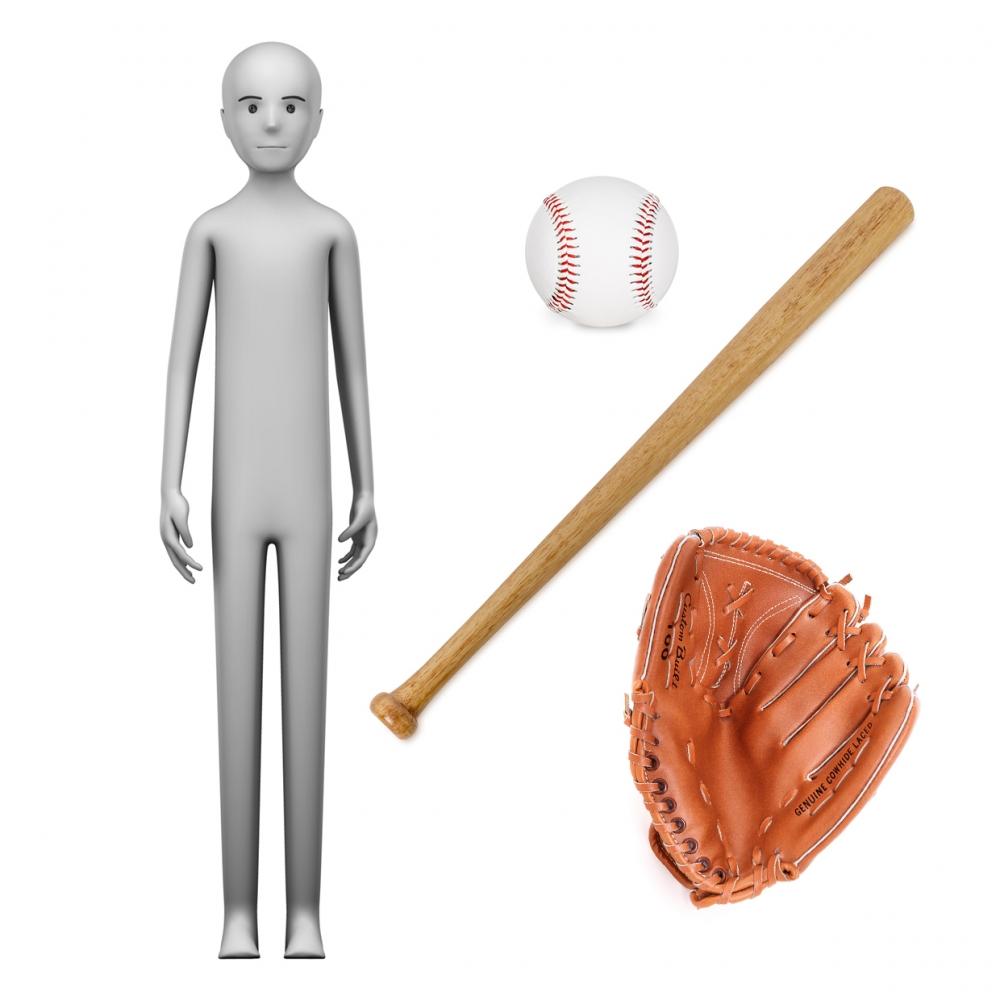 Imagen en la que se ve el concepto jugador de béisbol