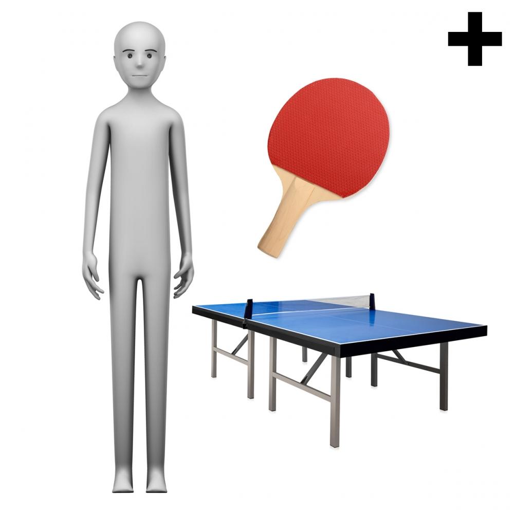 Imagen en la que se ve el plural del concepto jugador de ping pong