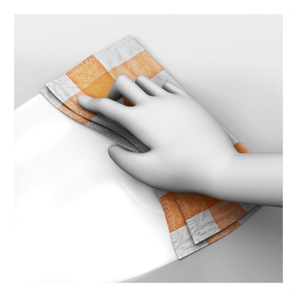 Imagen en la que se ve una mano limpiando la suciedad con un trapo