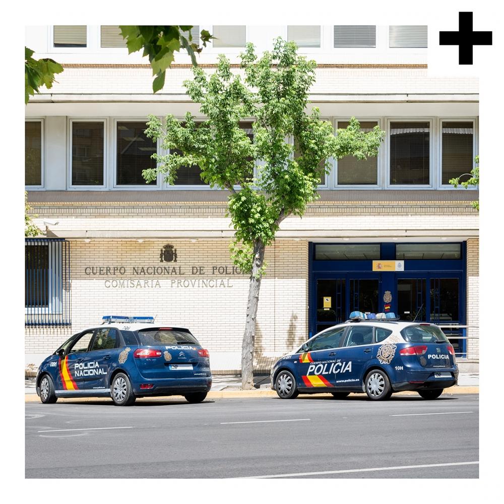 Imagen en la que se ve el plural del concepto comisaría de policía