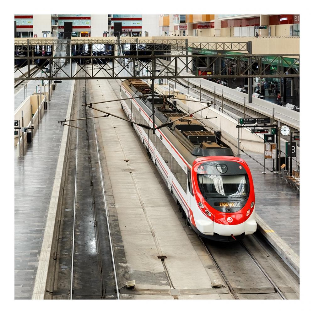 Imagen en la que se ve una estación de tren