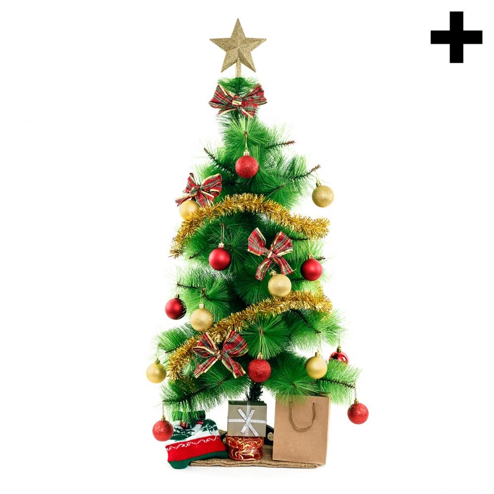 Imagen en la que se ve el plural del concepto árbol de Navidad