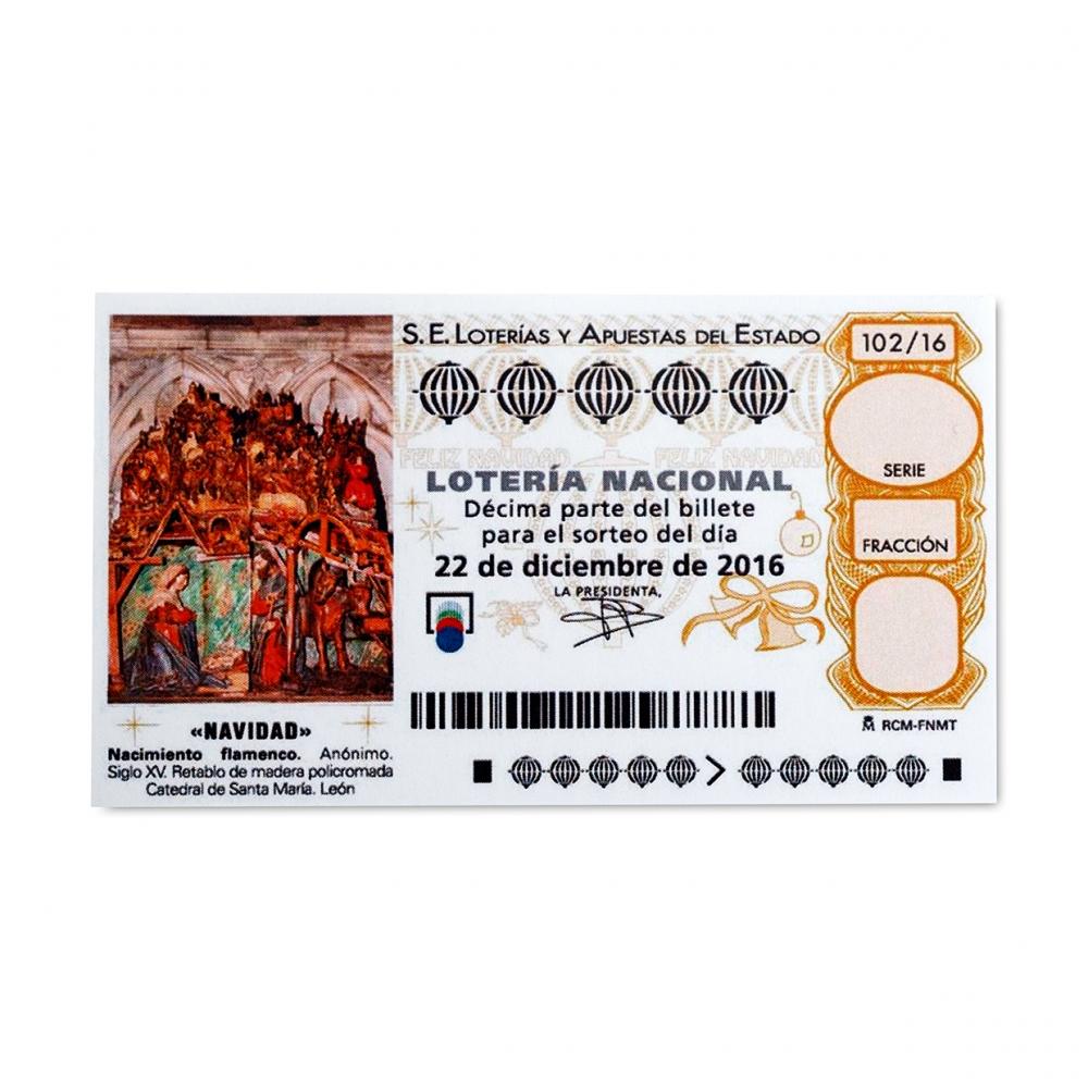 Imagen en la que se ve un billete de lotería