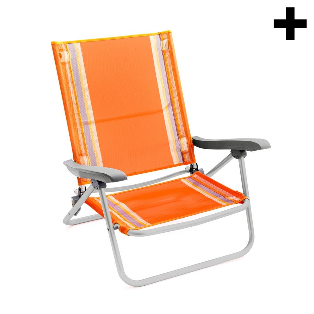 Imagen en la que se ve el plural del concepto silla de playa