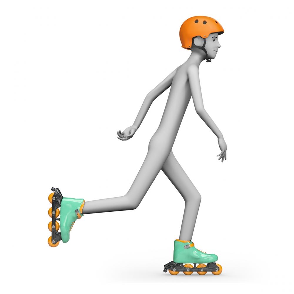 Imagen en la que se ve a una persona patinando con patines