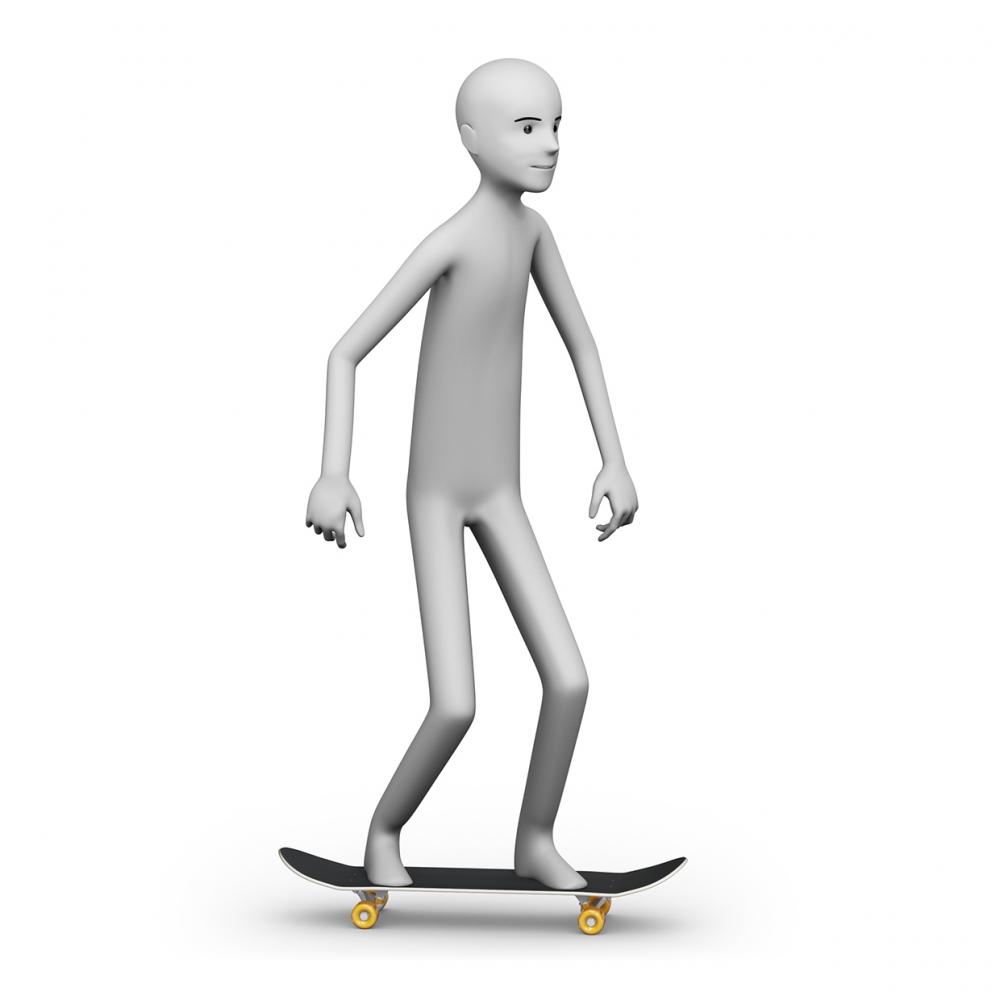 Imagen en la que se ve a una persona patinando con un monopatín