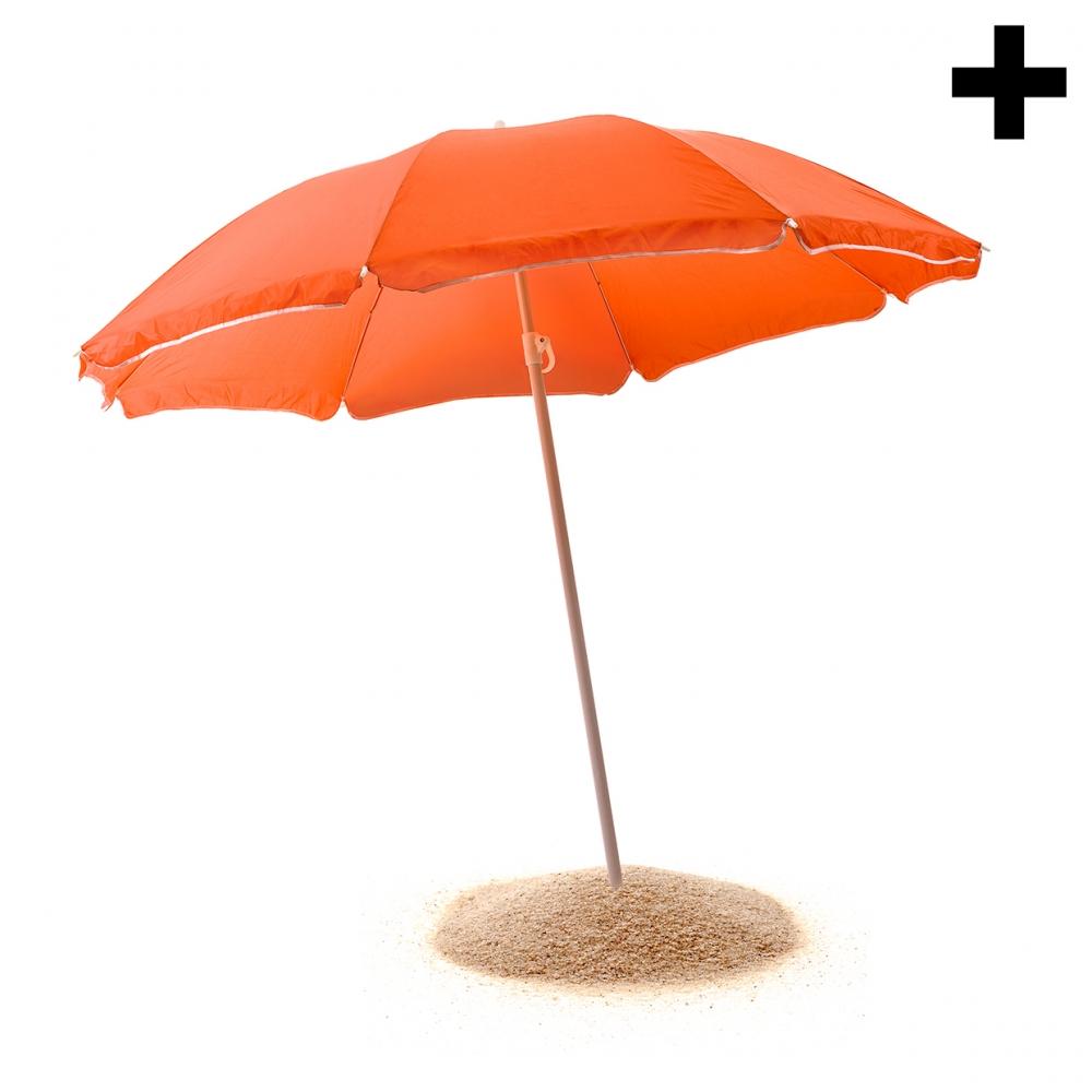 Imagen en la que se ve el plural del concepto sombrilla de playa