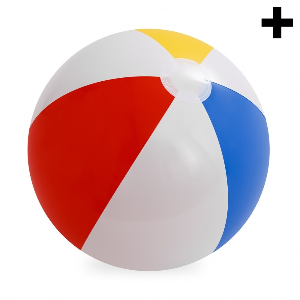 Imagen en la que se ve el plural del concepto pelota de playa