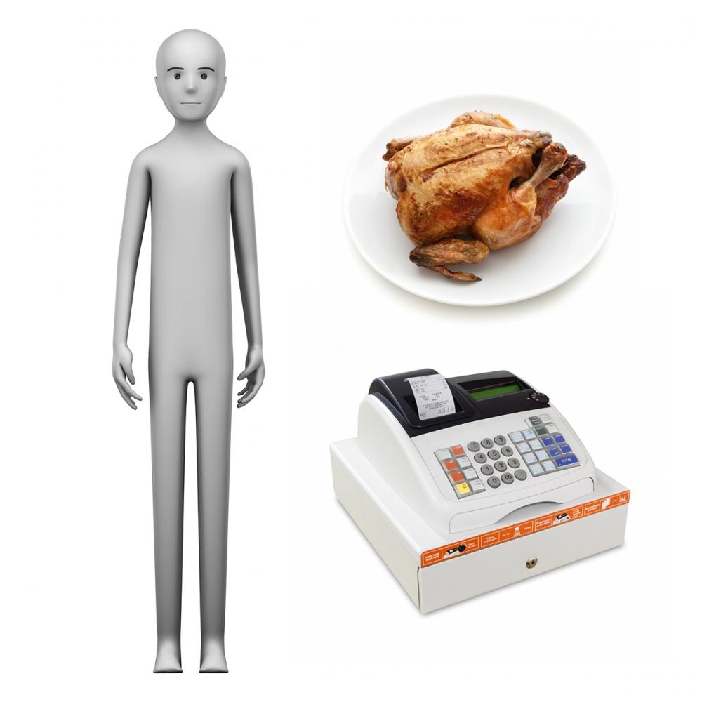Imagen en la que se ve el concepto de pollero o pollera