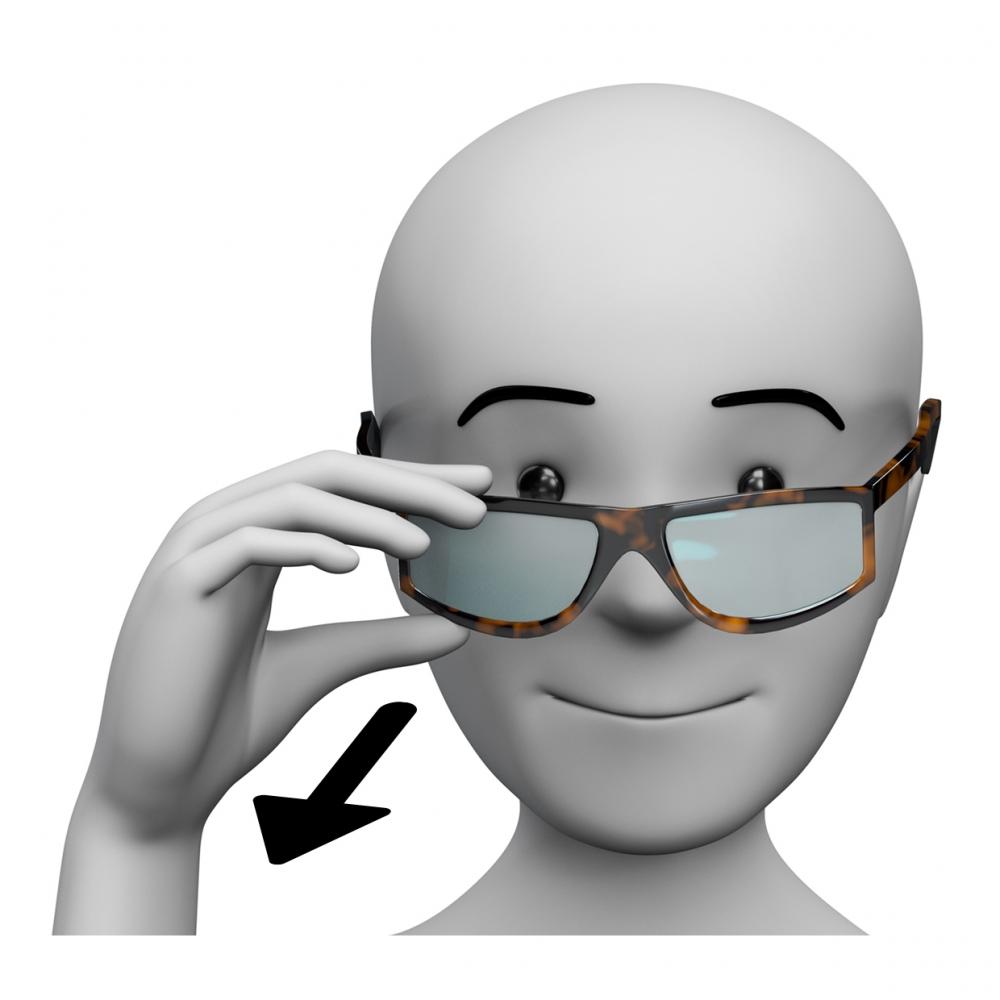 Imagen de una persona quitándose las gafas