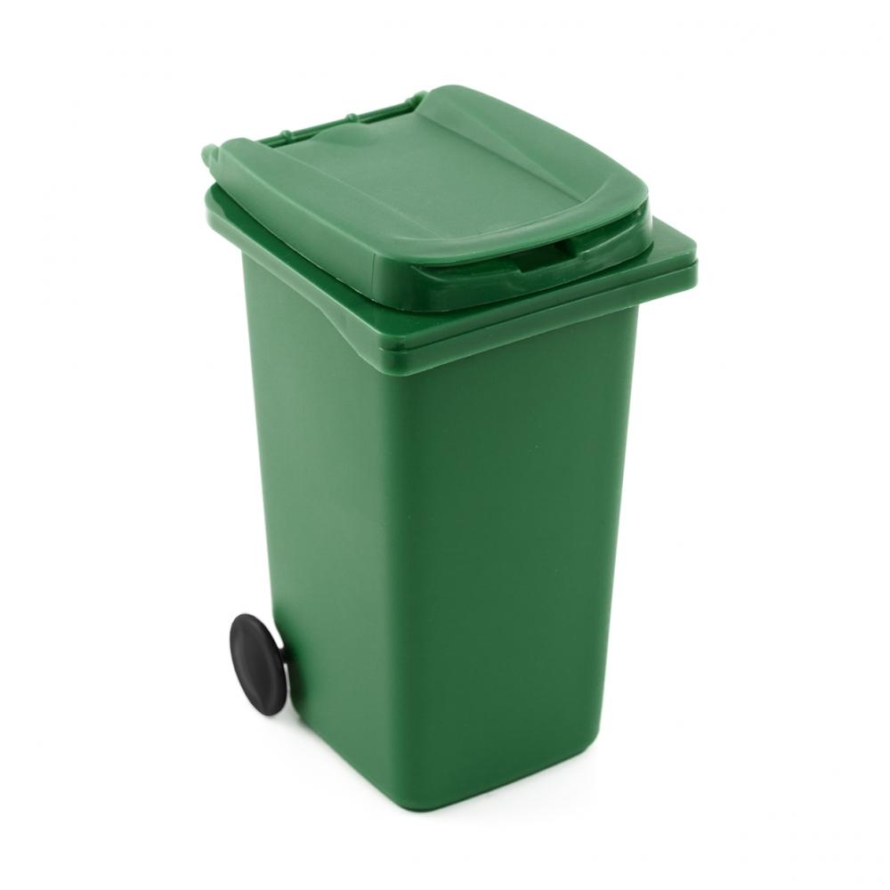 Imagen en la que se ve un contenedor verde de basura orgánica