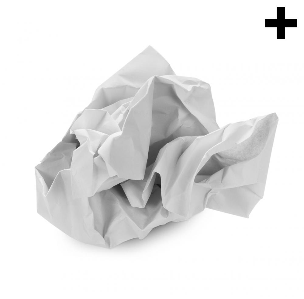 Imagen en la que se ve el plural del concepto papel arrugado