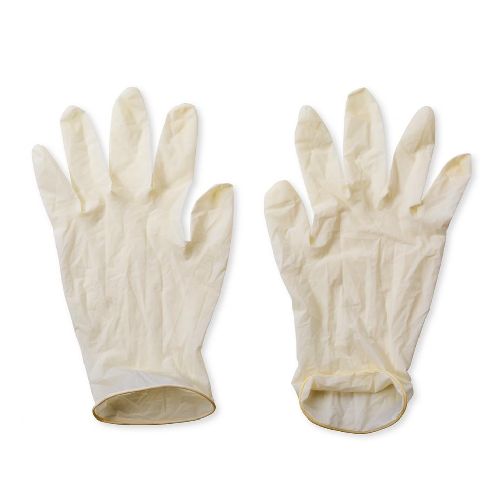 Imagen en la que se ve un par de guantes de látex