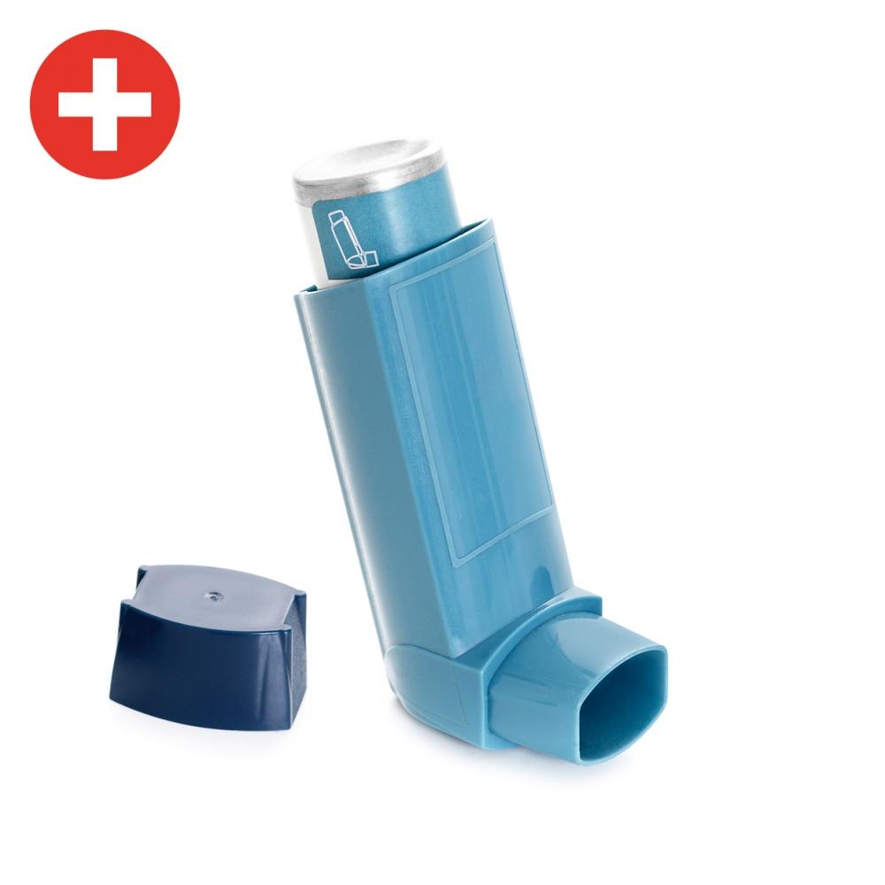Imagen en la que se ve un inhalador