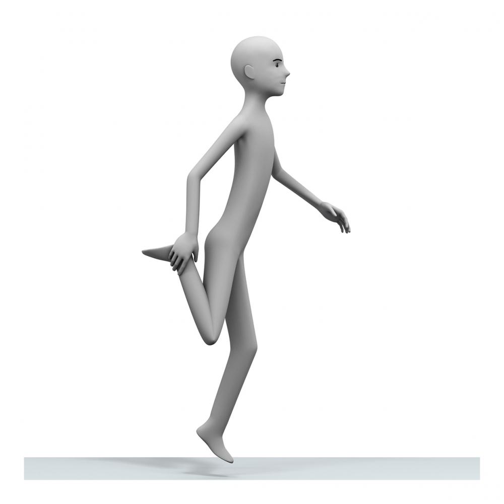 Imagen del verbo saltar a la pata coja