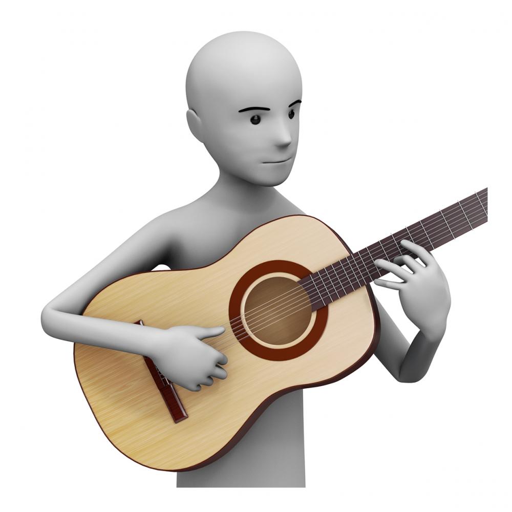 Imagen del verbo tocar la guitarra