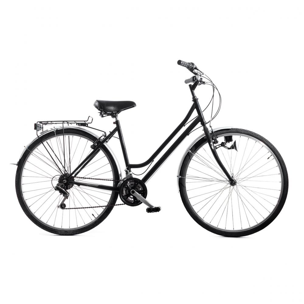 Imagen en la que se ve una bicicleta en perspectiva lateral