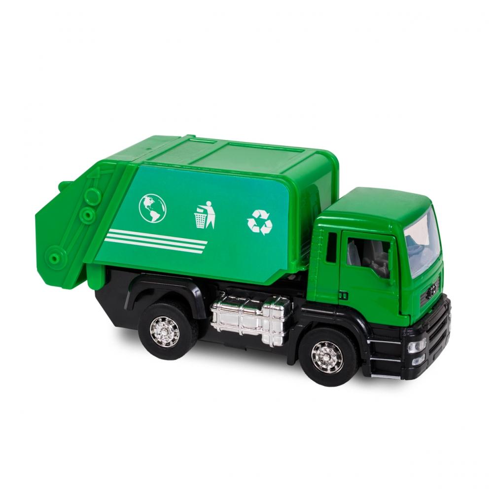 Imagen en la que se ve un camión de la basura