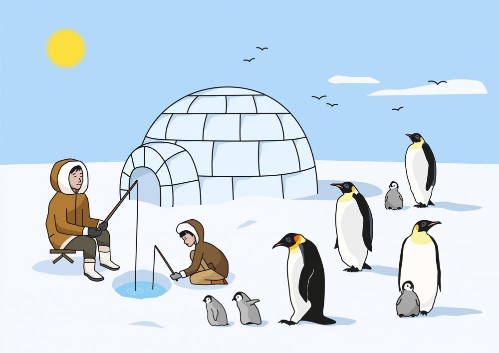 Escena en un paisaje ártico