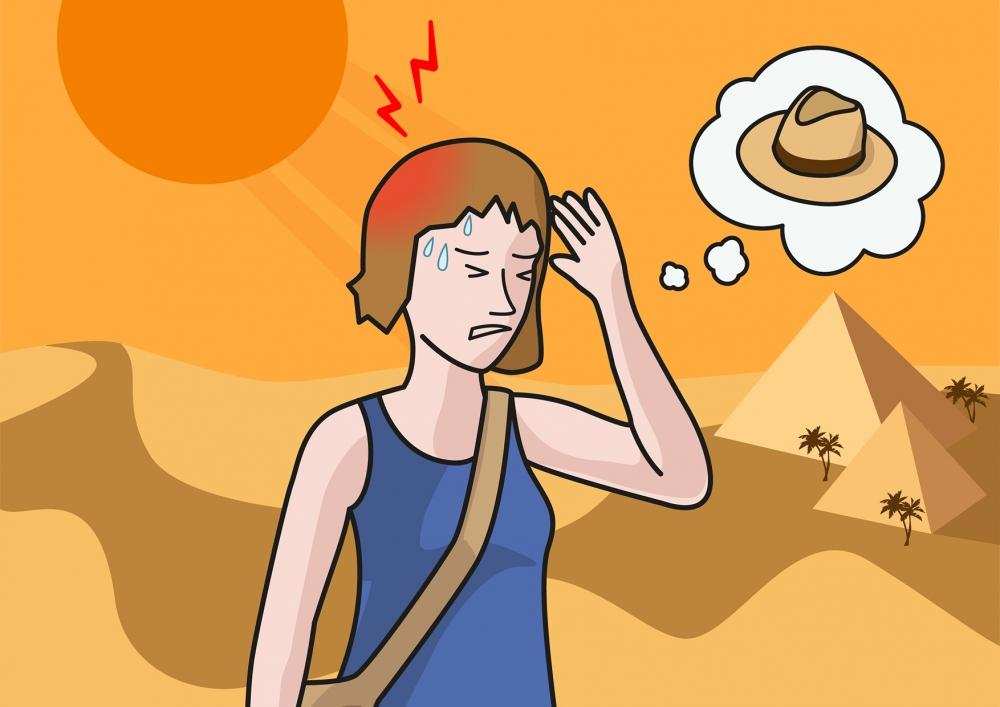 Escena en la que se ve a una mujer quejándose de dolor de cabeza