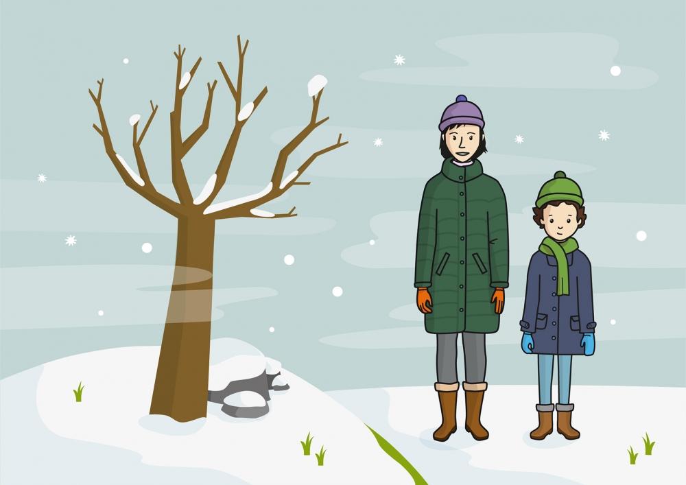 Escena que representa el invierno