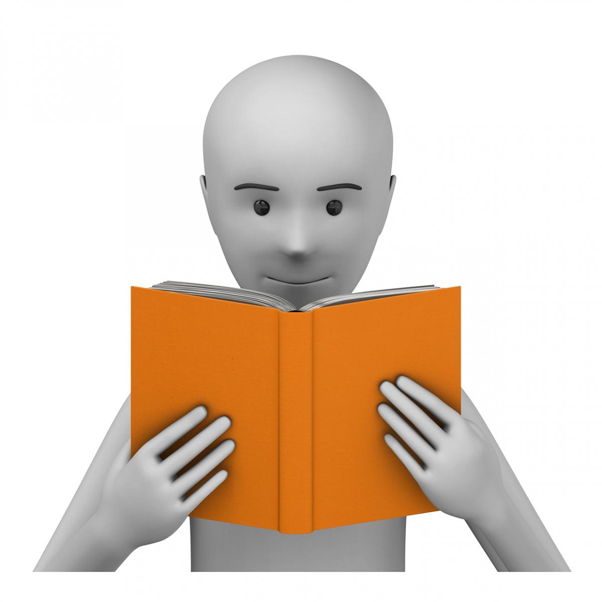 Imagen del verbo leer