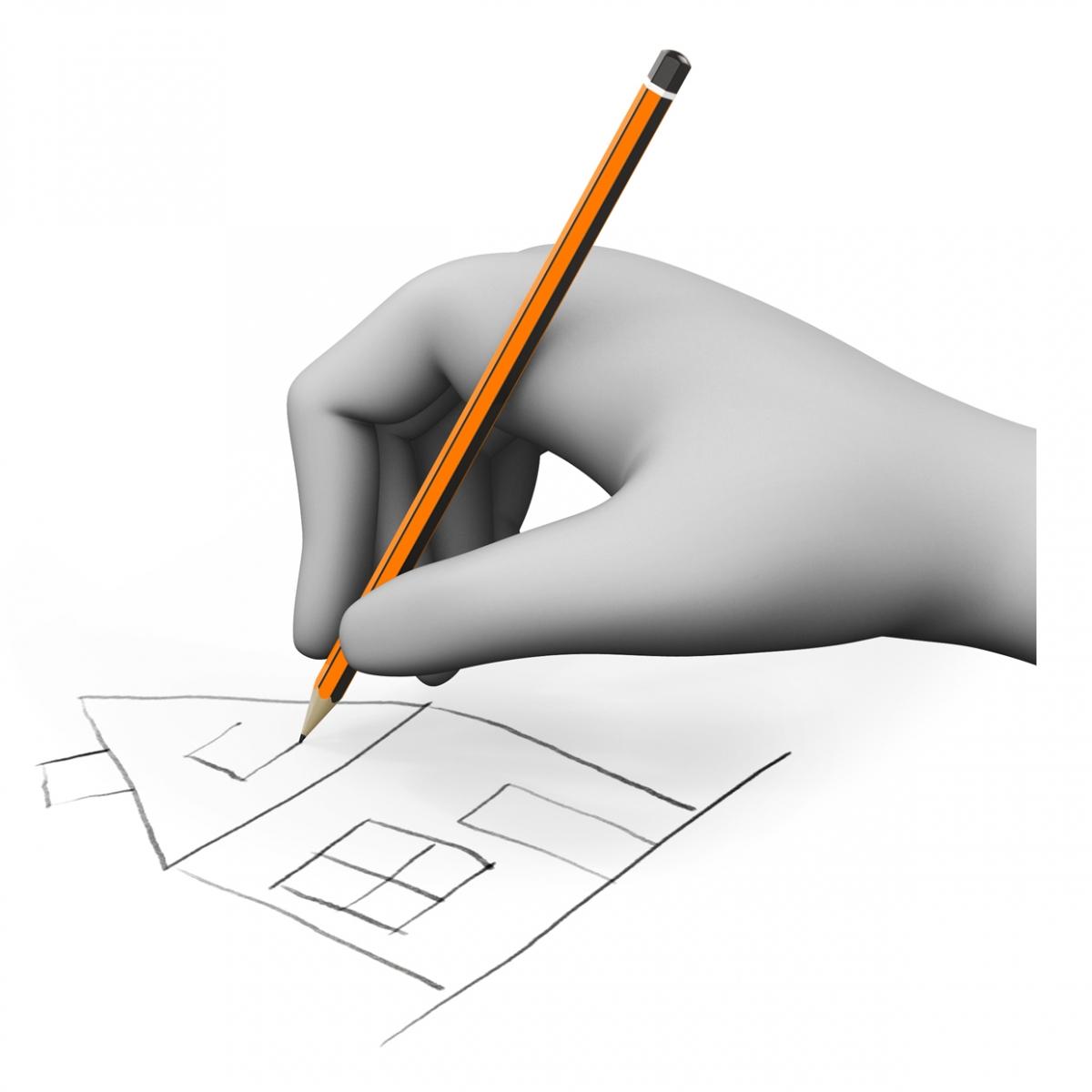 Imagen del verbo dibujar