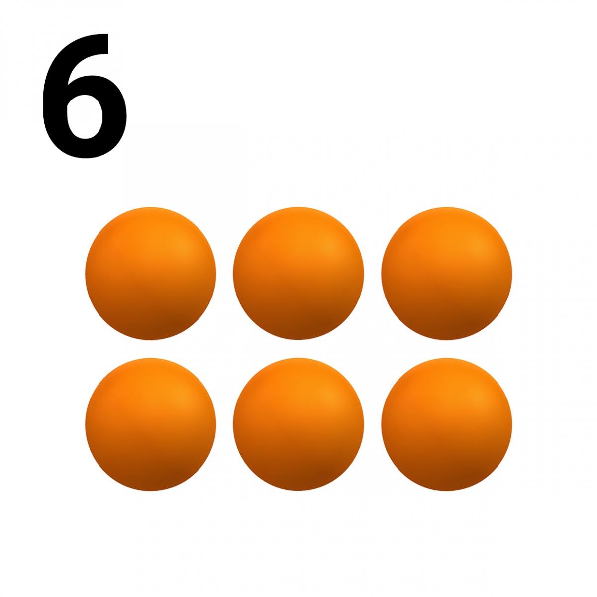 Imagen en la que se representa el número seis
