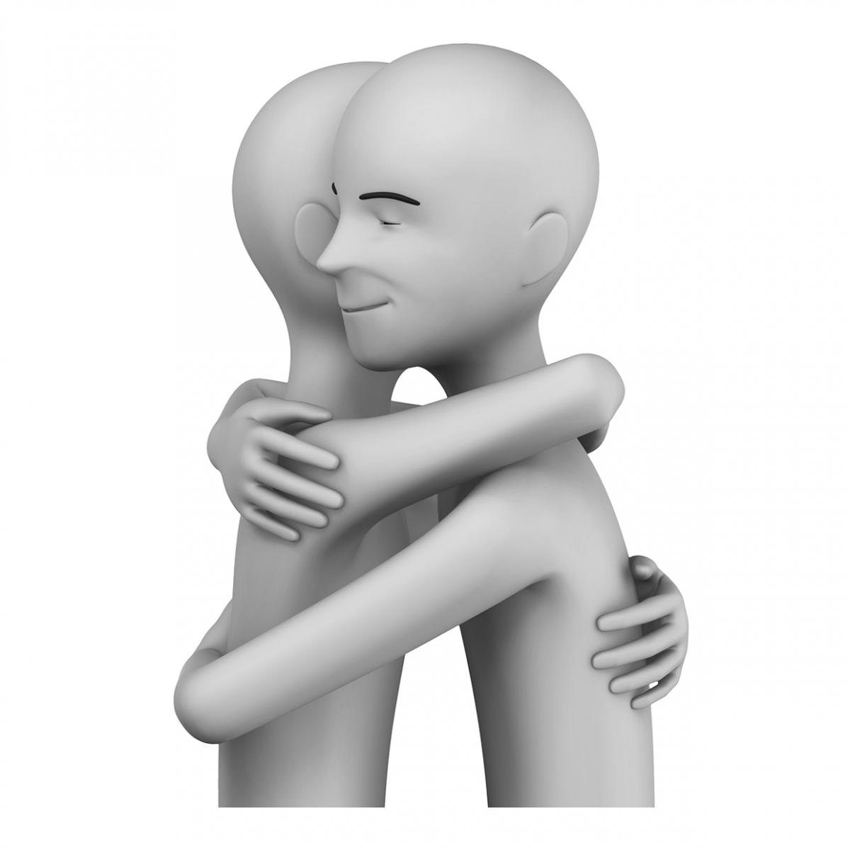 Imagen del verbo abrazar