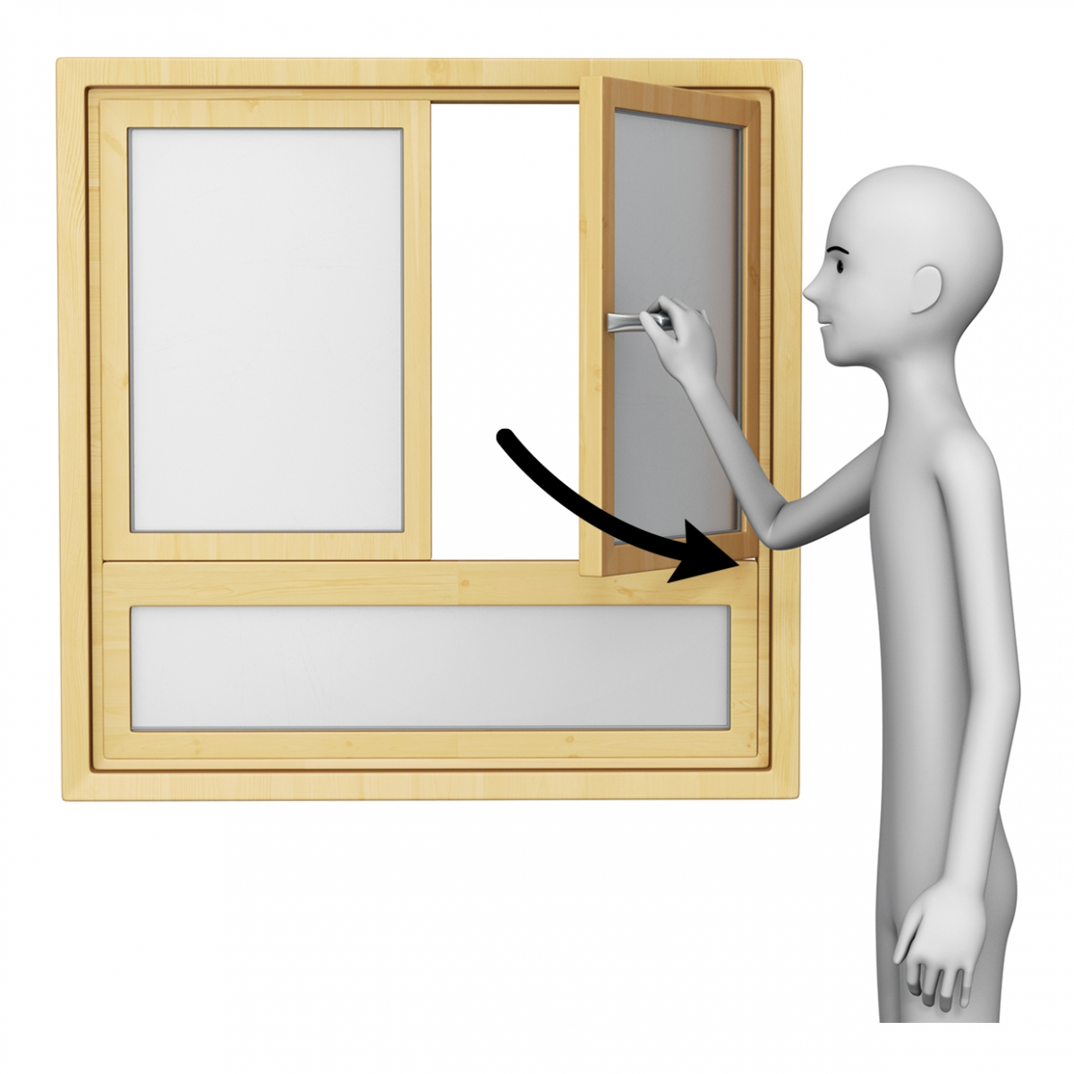 Imagen en la que aparece una persona abriendo una ventana