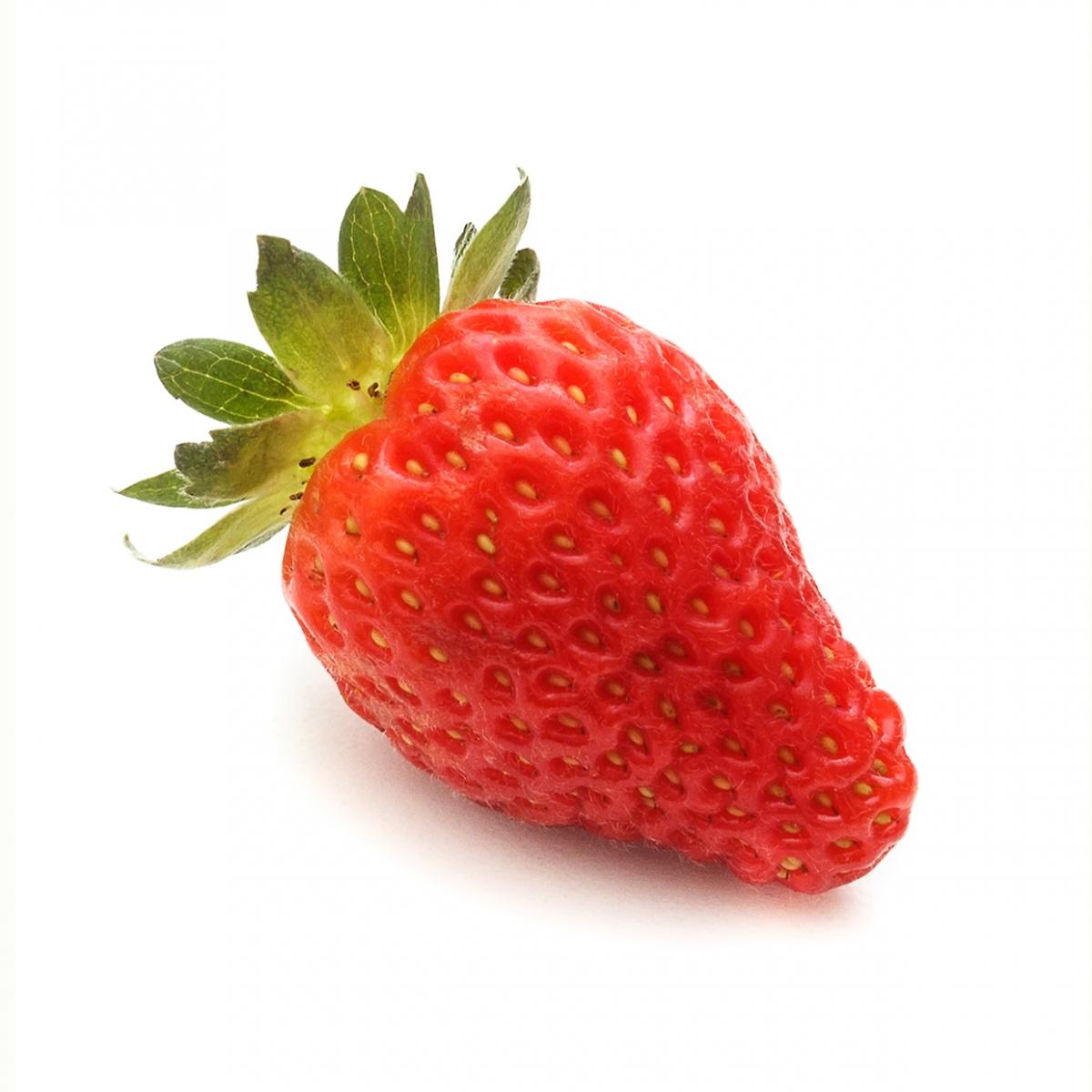 Imagen en la que se ve una fresa tumbada