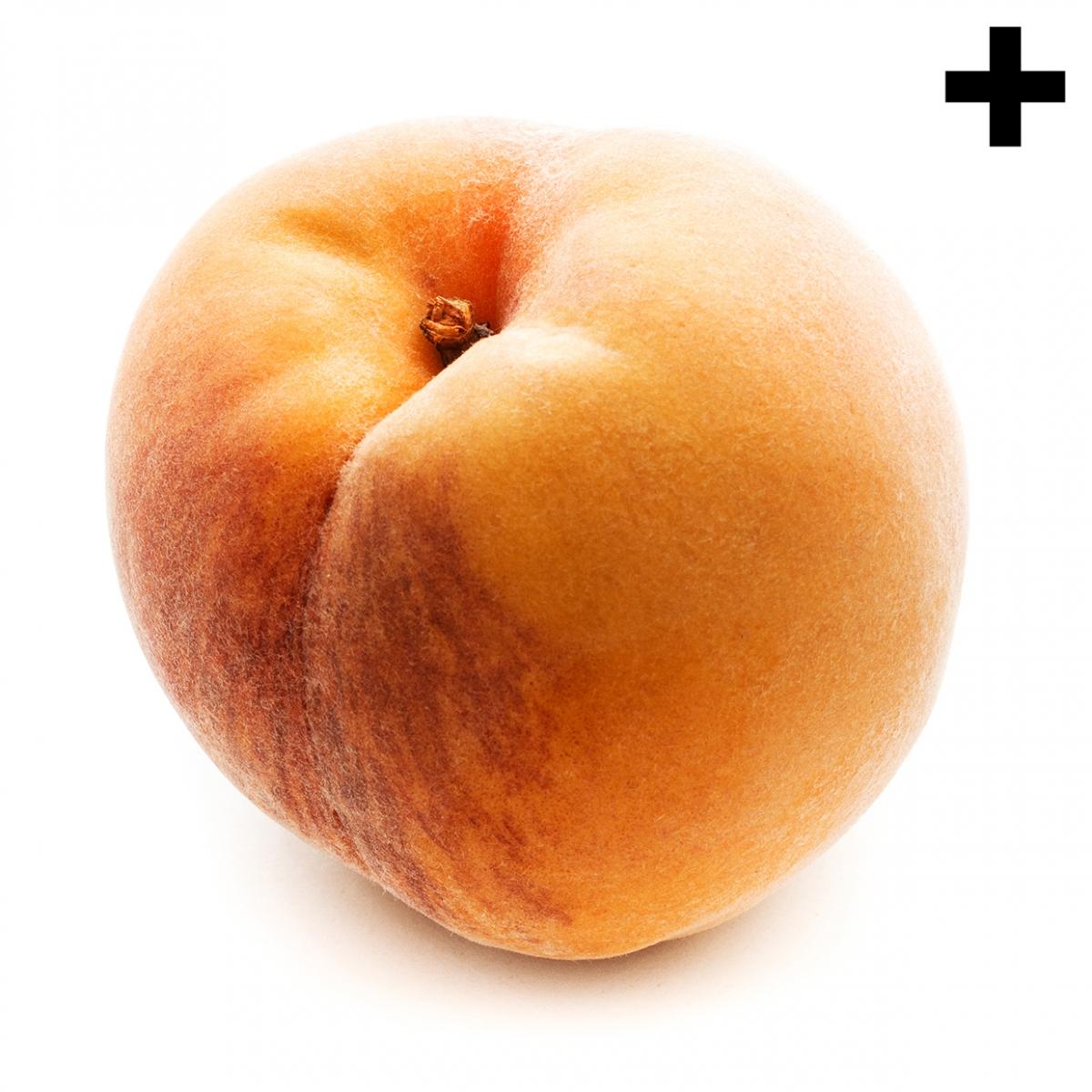 Imagen en la que se ve un melocotón