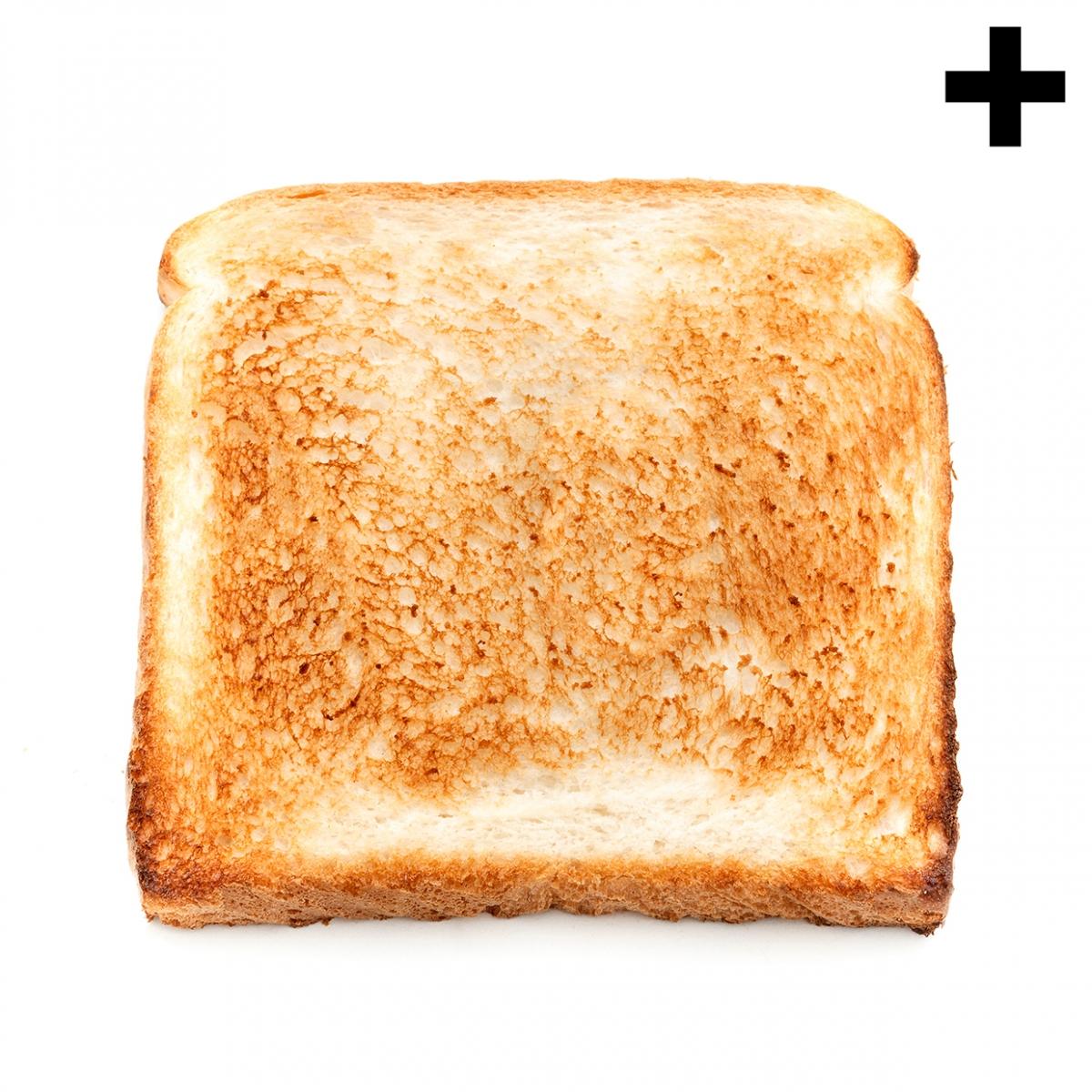 Imagen en la que se ve una tostada de pan de molde