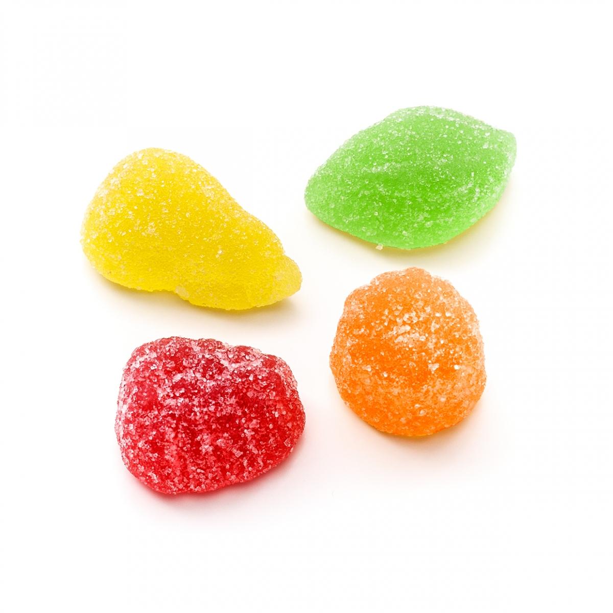 Imagen en la que se ven golosinas de distintos colores