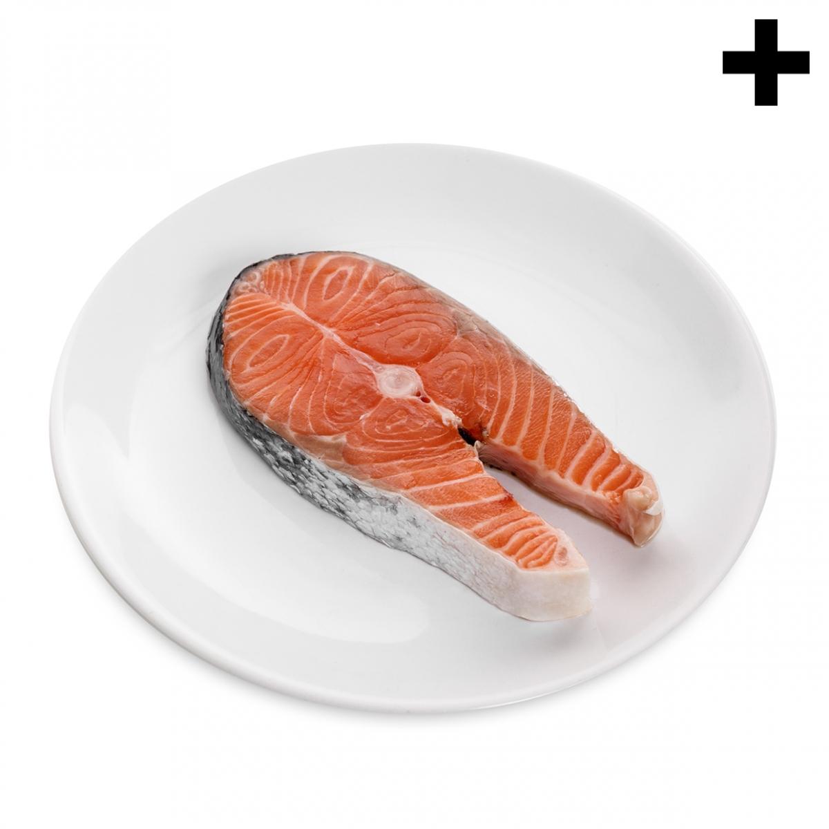 Imagen en la que se ve el plural del concepto rodaja de salmón