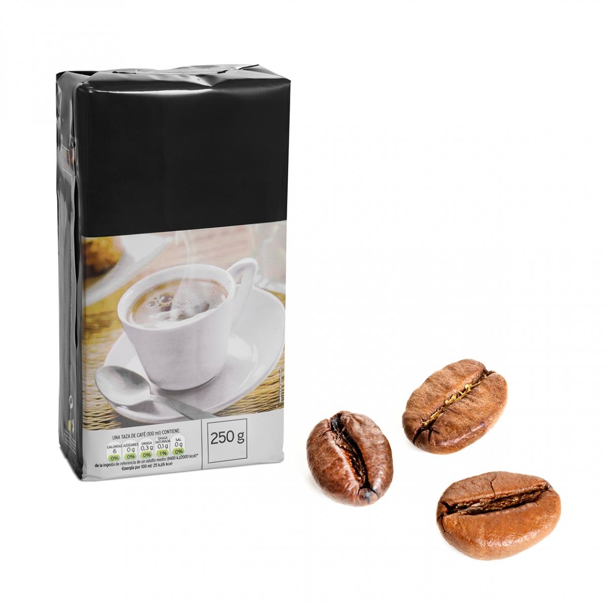Imagen en la que se ve el concepto de café en grano
