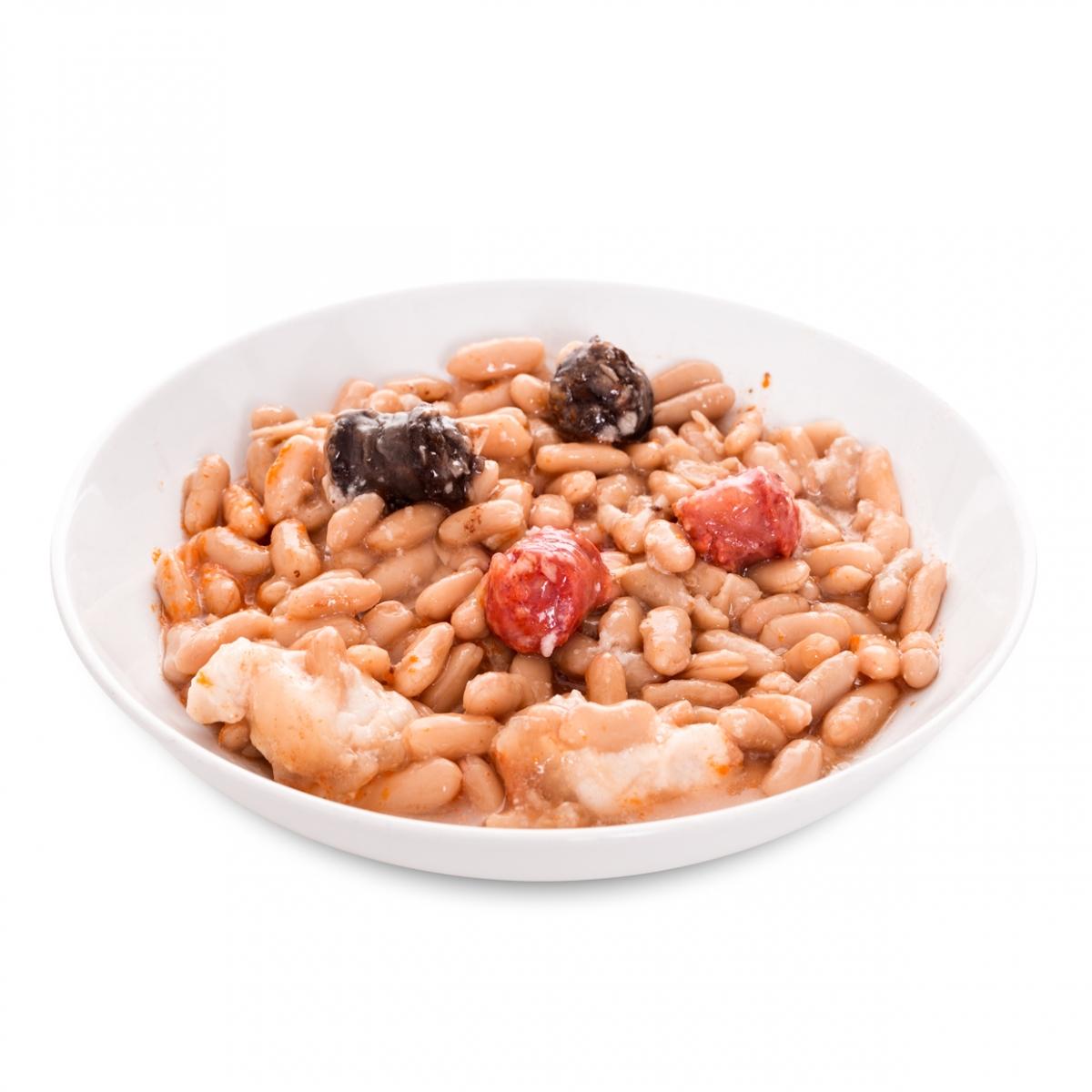 Imagen en la que se ve un plato de fabada