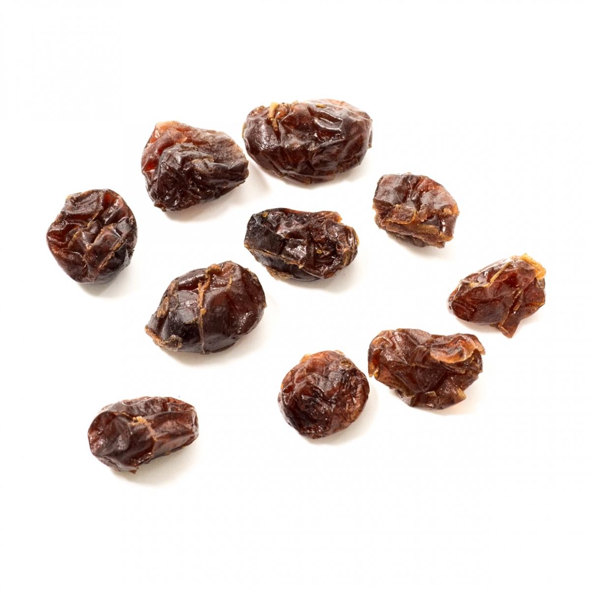 Imagen en la que se ven unas uvas pasas