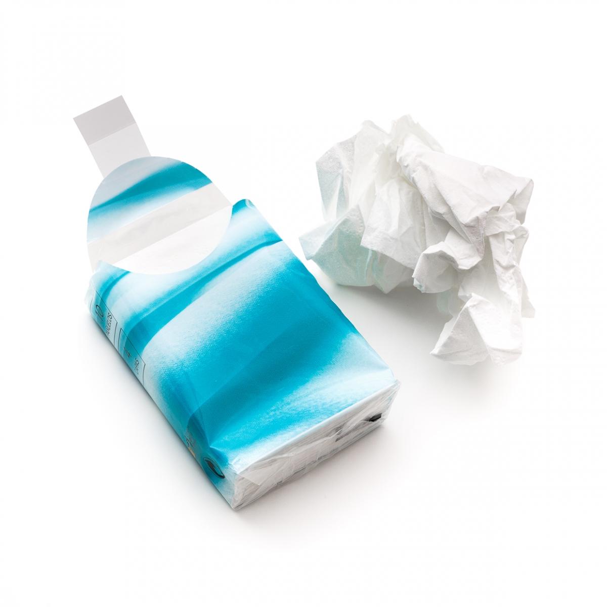 Imagen en la que se un ve paquete de pañuelos de papel
