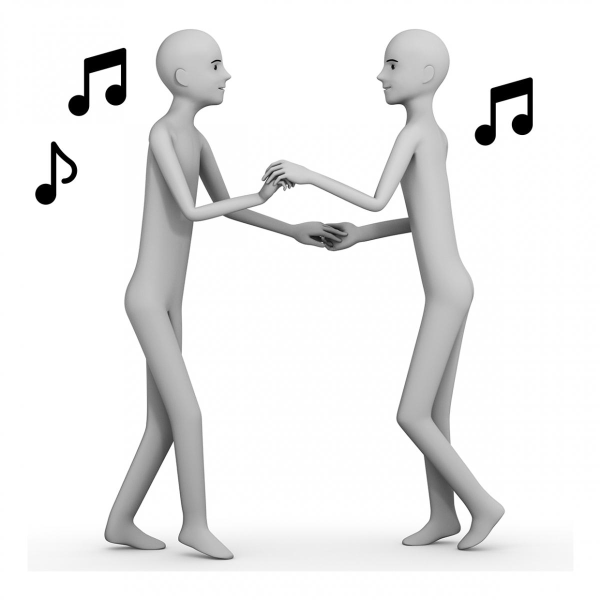 Imagen del verbo bailar en pareja