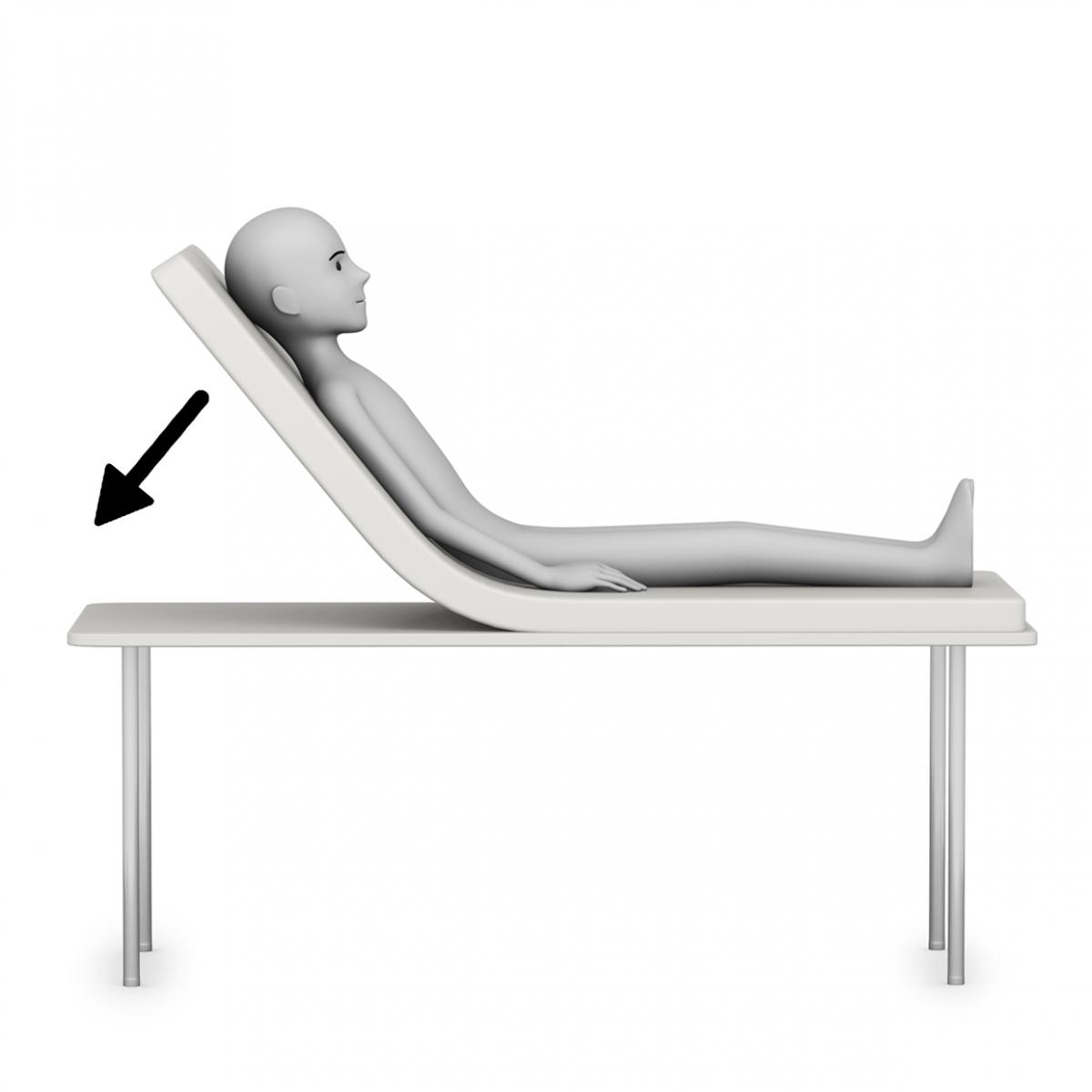Imagen del verbo bajar la cama