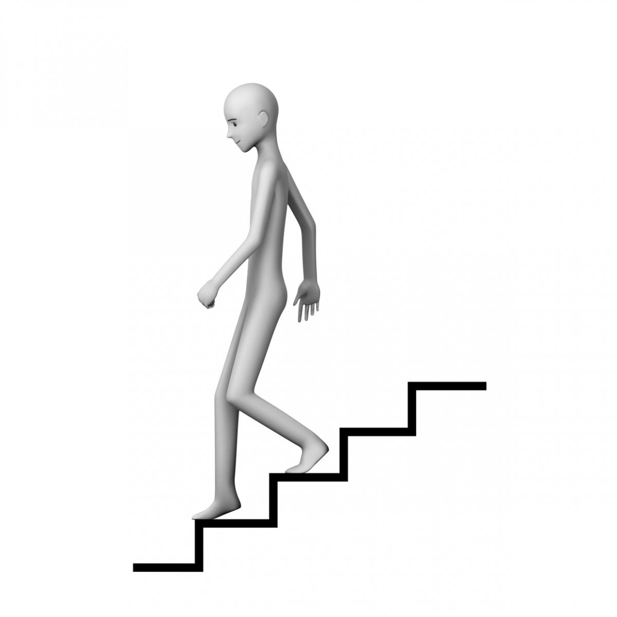 Imagen en la que aparece una persona bajando unas escaleras