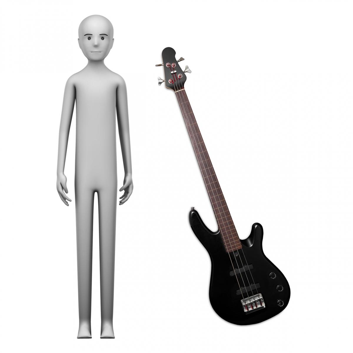 Imagen en la que se ve el concepto de profesión bajista