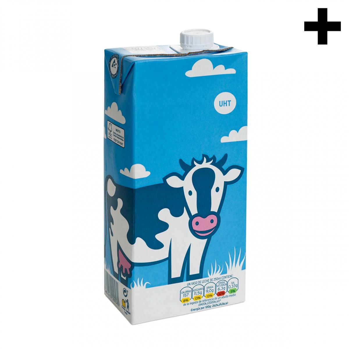 Imagen en la que se ve el plural del concepto caja de leche