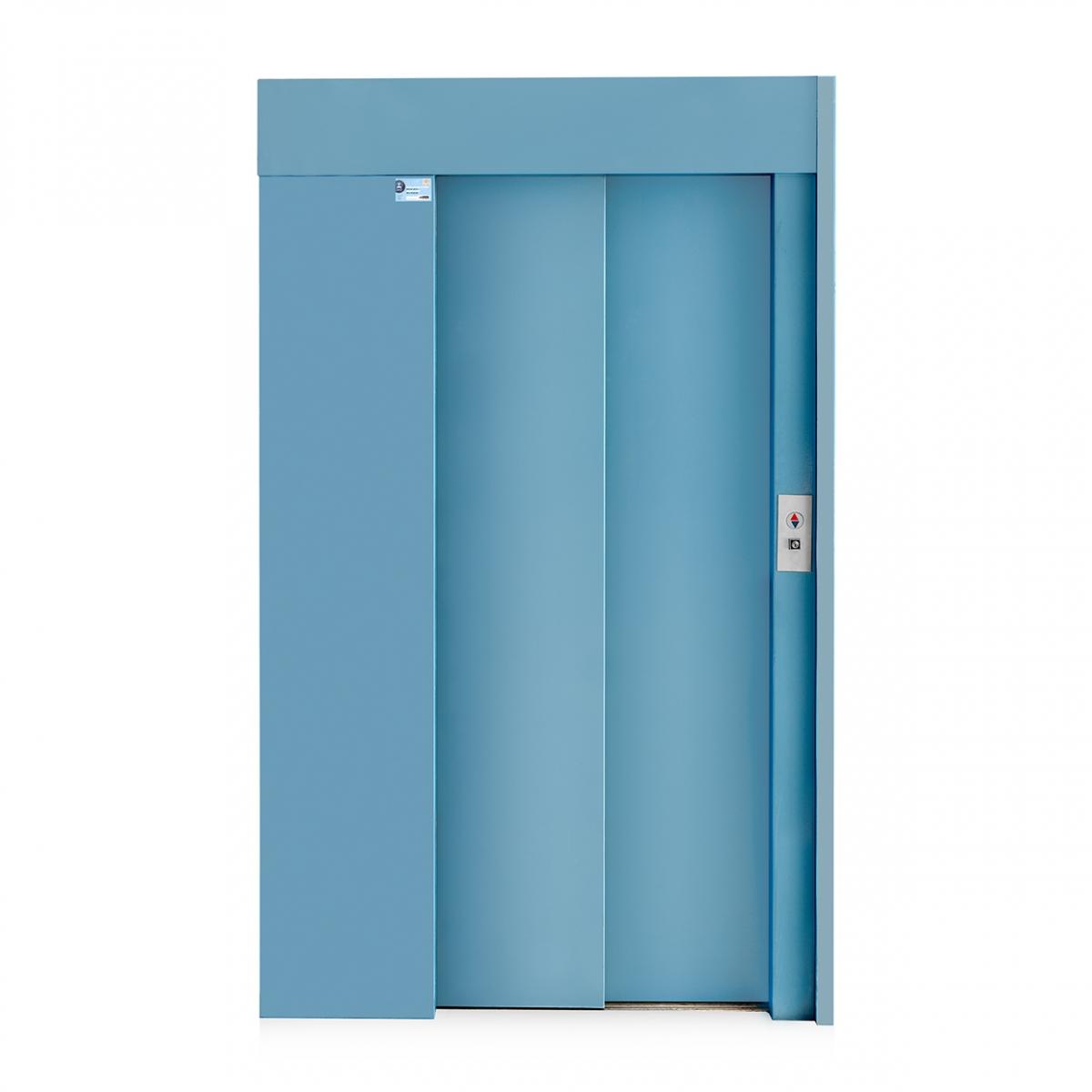 Imagen en la que se ve un ascensor desde fuera